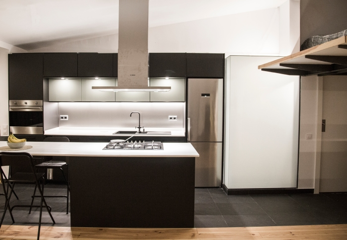 Reforma de un piso en Barcelona con bioconstrucción y materiales naturales. Arquitecta : Elisabetta Carnevale